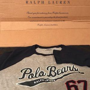 NWOT Polo Ralph Lauren Polo Bears L/S Tee Size S